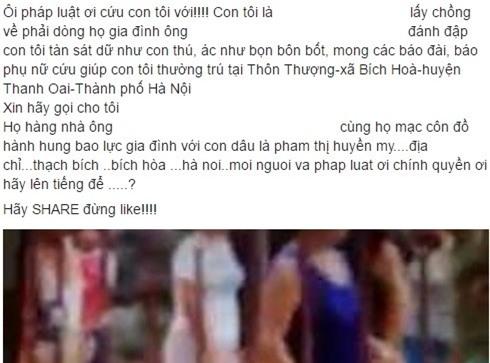 Cha len Facebook cau cuu cho con gai bi nha chong bao hanh hinh anh 1