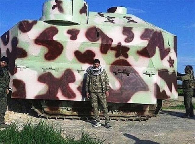 Xem xe bọc thép tự chế siêu dị của ISIS tại Iraq ảnh 3