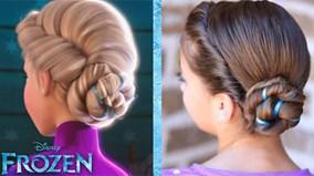 """Mẹ khéo tay học cách tết tóc """"nữ hoàng tuyết"""" cho bé yêu"""