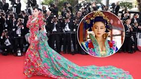 """Mỹ nhân phim Võ Tắc Thiên """"khoác chăn"""" lên thảm đỏ Cannes"""