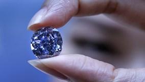 Viên kim cương xanh 32 triệu đô phá kỷ lục đấu giá tại Hong Kong
