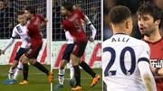 """Sao trẻ Tottenham """"chơi bẩn"""", đấm thẳng vào bụng đối thủ"""