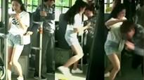 Cô gái xinh đẹp trừng trị kẻ móc túi trên xe buýt