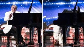 """Thí sinh Britain's Got Talent """"cắm đầu xuống đất"""" chơi piano"""