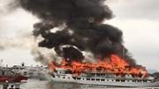 Tàu du lịch cao cấp cháy dữ dội ở cảng Tuần Châu