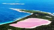 Bí ẩn hồ màu hồng giữa đại dương xanh thẳm