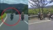 """Hai thanh niên bị tóm vì """"đánh võng"""" trêu cảnh sát trên cao tốc"""