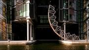 Độc đáo cây cầu có thể... cuộn tròn ở London