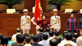 Bà Nguyễn Thị Kim Ngân tuyên thệ nhận nhiệm vụ Chủ tịch Quốc hội