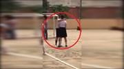Trấn Thành vô tư 'khoá môi' Hari Won giữa phim trường