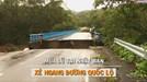 """Lũ lụt lớn ở Nhật Bản, """"xé toạc"""" đường quốc lộ"""