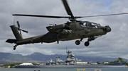 Khoảnh khắc trực thăng Apache của Mỹ lao đầu xuống biển ở Hy Lạp