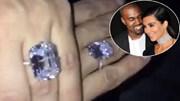 Lóa mắt với nhẫn kim cương 23 tỷ của Kim Kardashian