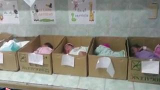 Tận cùng khủng hoảng ở Venezuela: Trẻ sơ sinh nằm trong hộp giấy