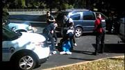 Vợ quay lại cảnh chồng bị cảnh sát bắn chết