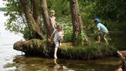 Trẻ mầm non lăn lộn khám phá ở các lớp học trong rừng tại Đức