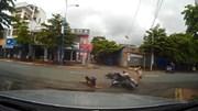"""Sang đường """"như chốn không người"""", 2 cô gái đi xe máy bị đâm ngang"""