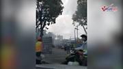 Sài Gòn: Cháy tại công trình xây dựng trên đường Tôn Đức Thắng