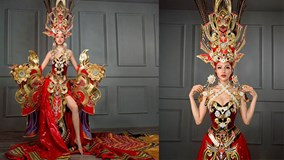 Nhà thiết kế nói về trang phục dân tộc nặng 45kg dự thi quốc tế
