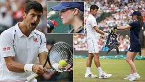 Djokovic khiến cô bé nhặt bóng sợ phát khiếp