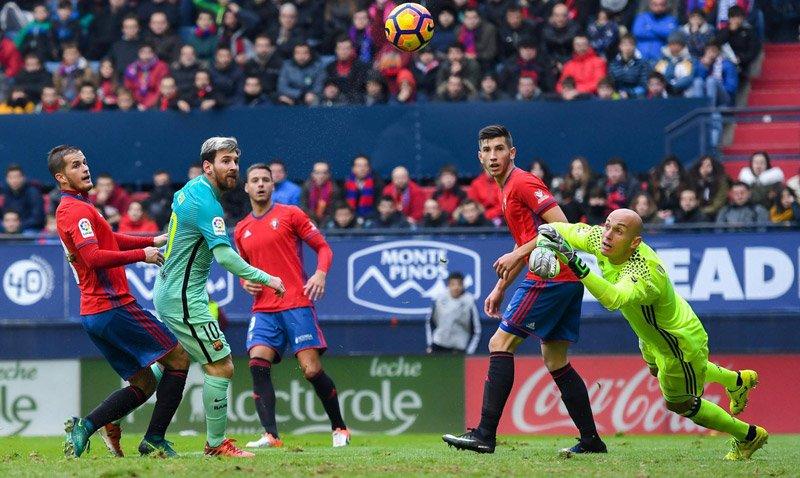 Osasuna vs Barca, Barca vs Osasuna, Barca, Osasuna, Messi, Lionel Messi, vòng 15 La Liga