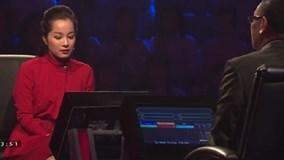 Minh Hương 'Vàng Anh' gây thất vọng ở 'Ai là triệu phú'