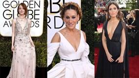 Cận cảnh những chiếc váy tiền tỷ gợi cảm tại Quả Cầu Vàng 2017