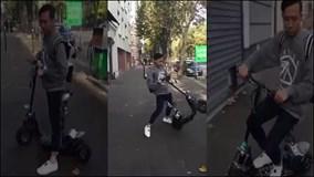 """Hari Won quay clip """"tố"""" Trấn Thành phóng xe ầm ầm trên vỉa hè tại Pháp"""