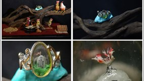Khó tin chú gà trống nhỏ nhất thế giới được điêu khắc từ... hạt nho khô