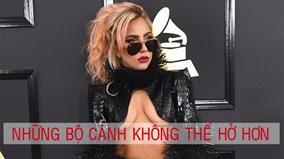 """Lady Gaga khuấy đảo thời trang """"khoe chân ngực"""" tại Grammy 2017"""