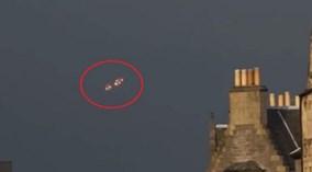 'UFO' bí ẩn phát sáng, lơ lửng trên bầu trời Pháp
