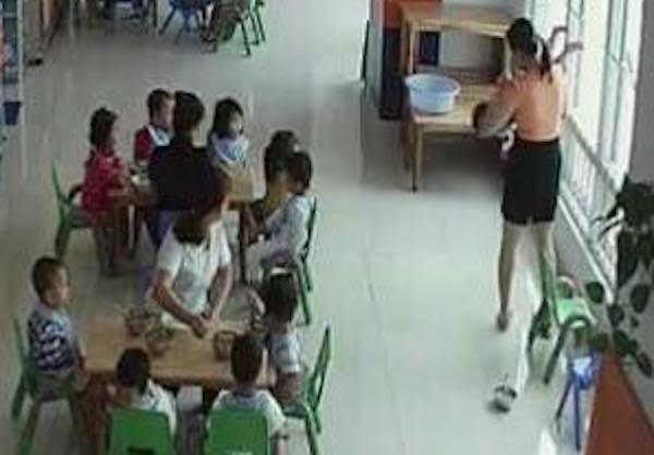 cô giáo mầm non, bạo hành, ép ăn, ném qua cửa sổ