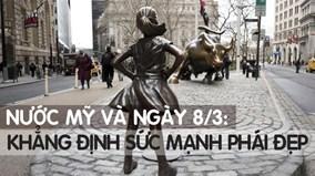Mỹ: Bức tượng bé gái phố Wall thách thức phái mạnh nhân ngày 8/3