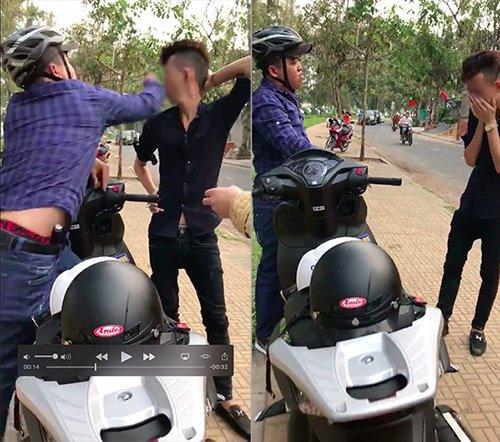 """clip: hiep si duong pho giang """"cu dam ngan can"""" vao mat ke cuop hinh anh 1"""