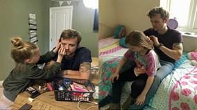 Giây phút cô bé đoàn tụ với cha khiến dân mạng bật khóc