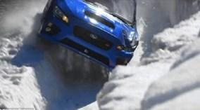 Dựng tóc gáy với màn chạy ô tô trong đường trượt tuyết
