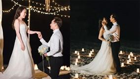 Rò rỉ clip MC Thành Trung quỳ gối cầu hôn bạn gái bên bờ biển