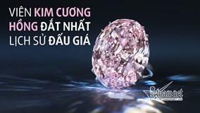 Viên kim cương hồng 1.600 tỷ phá vỡ mọi kỷ lục đấu giá