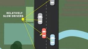 Nếu đi chậm, hãy lái xe ở làn phải