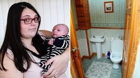 Đẻ rơi ở bồn cầu vì không biết mình đang mang thai