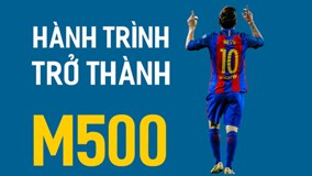 Hành trình trở thành M500 của Messi