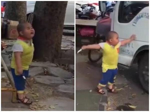 Trung Quốc: Cậu bé 5 tuổi cầm dao uy hiếp nữ tài xế ngay ở chốn đông người - Ảnh 2.