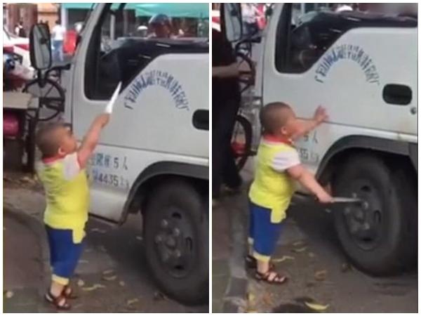 Trung Quốc: Cậu bé 5 tuổi cầm dao uy hiếp nữ tài xế ngay ở chốn đông người - Ảnh 3.