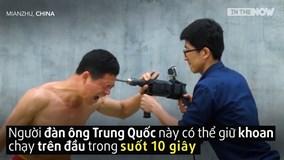 Võ sư Kung-fu dùng đầu thách thức khoan máy bê tông