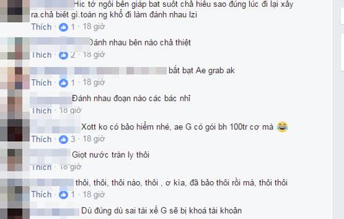 "clip tai xe grabbike va xe om truyen thong ""dau vo"" gay xon xao hinh anh 2"