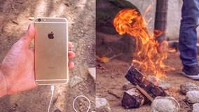 Sạc pin điện thoại thông minh bằng... lửa