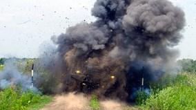 Dính mìn 10kg, xe thiết giáp Typhoon của Nga có tan tành?
