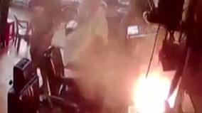 Điện thoại Trung Quốc đang sạc bất ngờ phát nổ và bốc cháy dữ dội