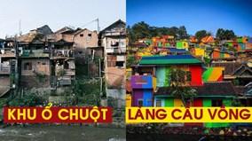 Từ khu ổ chuột thành làng 'cầu vồng' hút triệu du khách