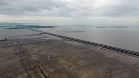 Toàn cảnh cầu vượt biển 12.000 tỷ dài hơn 5 km ở Hải Phòng